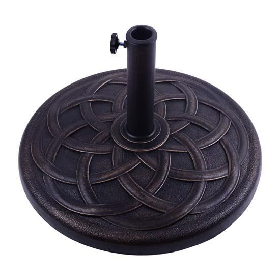 "Picture of Outdoor Round Umbrella Holder Base 21.5"" - Bronze Finish"