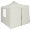 Picture of Outdoor Tent 10' x 10' with 4 Walls Foldable Canopy Gazebo - Cream
