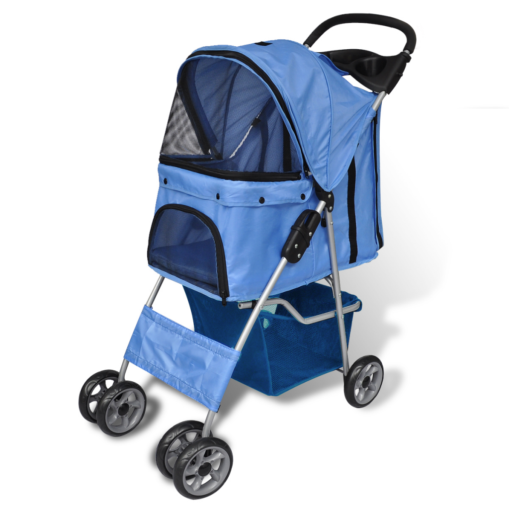 Picture of Pet Dog Stroller Folding Travel Carrier