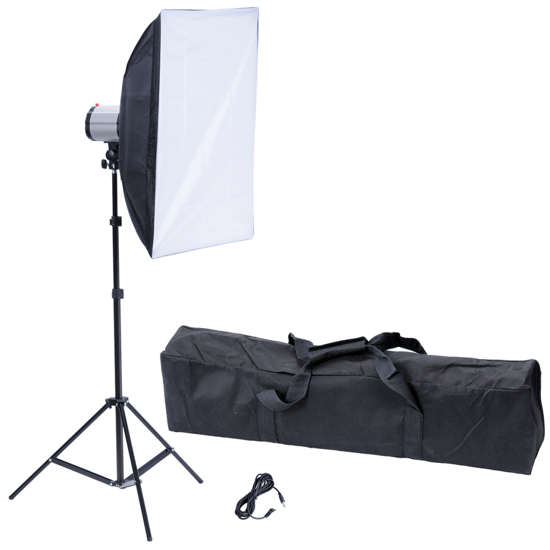 "Picture of Photography Photo Studio: Studio Flash Light 120 W/s with Softbox 20"" x 28"" & Tripod"