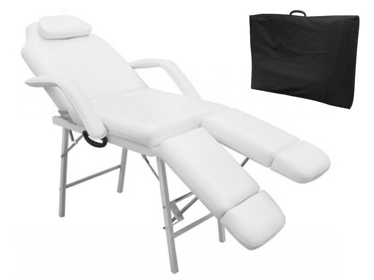 """Picture of Portable Massage Tattoo Bed Chair 75"""" - White"""