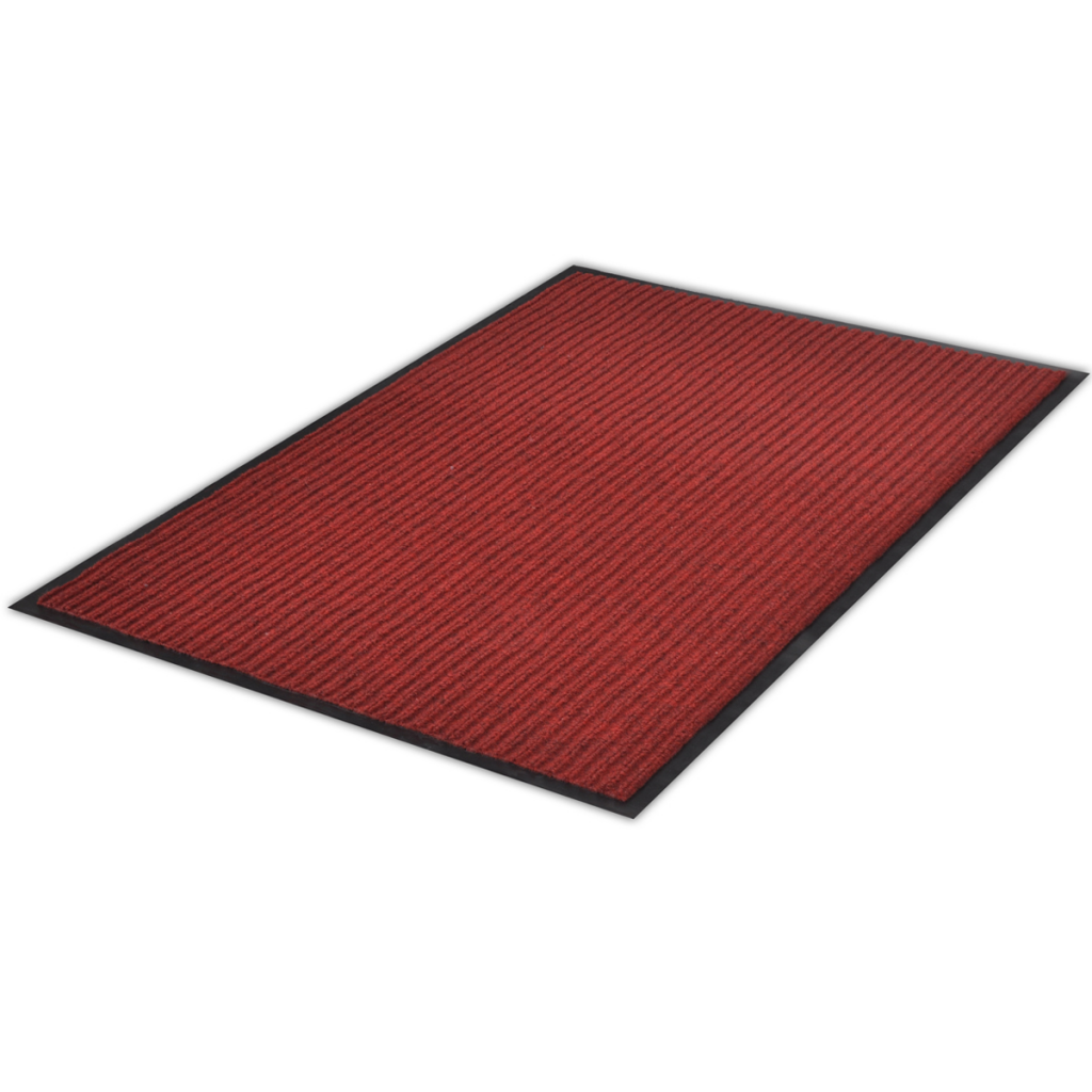 "Picture of PVC Door Mat 3' 9"" x 5' 9"" - Red"