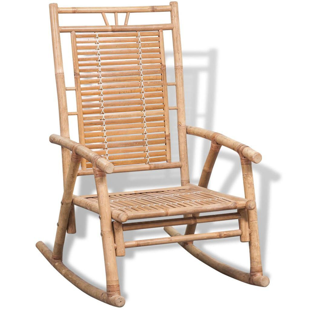 Picture of Outdoor Patio Bamboo Rocking Chair