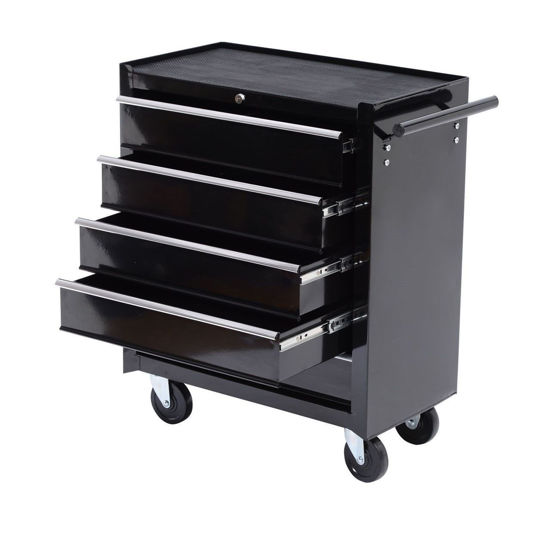 Picture of Rolling Tool Cabinet Chest with 5 Drawers - Black