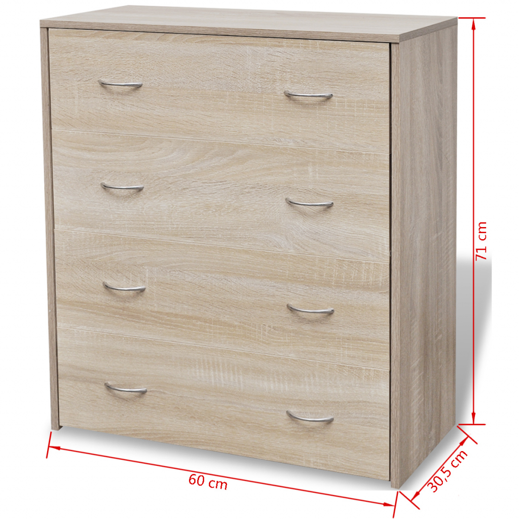 "Picture of Sideboard with 4 Drawers 23"" - Oak"