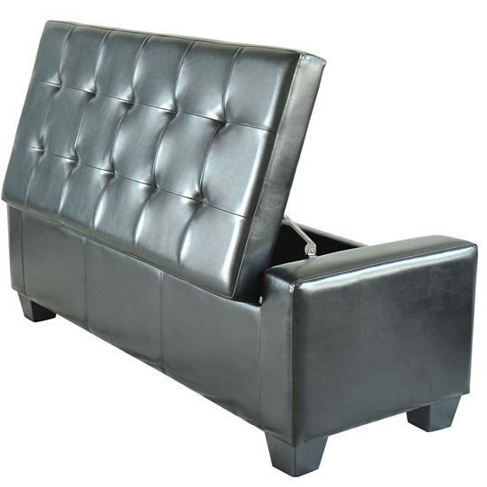 Picture of Bench Storage Ottoman - Black