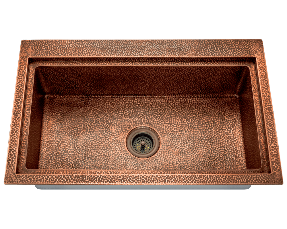 Picture of Single Bowl Dual-Mount Copper Sink