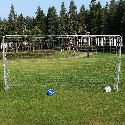 Picture of Soccer Goal 12' x 6' Football With Net Velcro Straps, Anchor Ball Training Sets