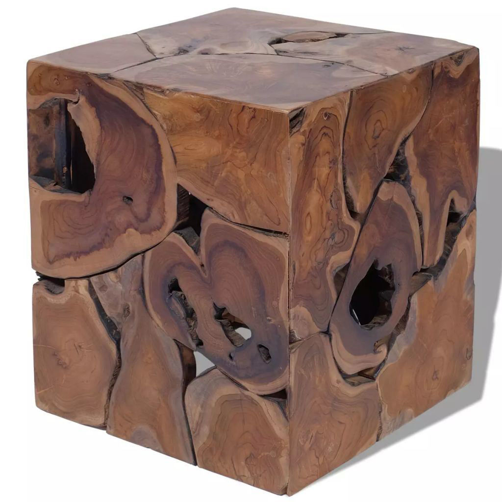 """Picture of Stool - Solid Teak 15"""""""
