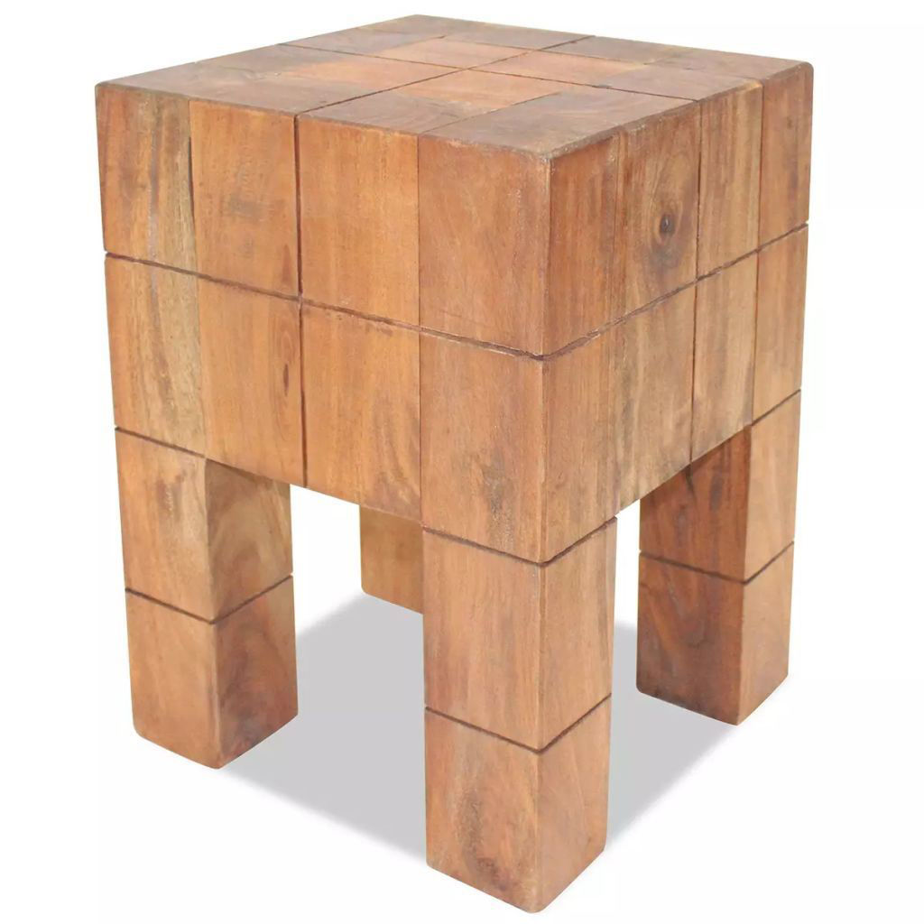 "Picture of Stool Solid Reclaimed Wood 11""x11""x15.7"""