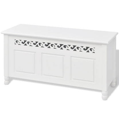 Picture of Storage Bench Baroque Style MDF White
