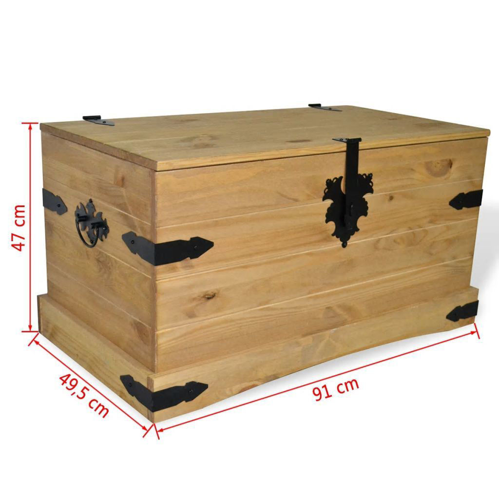 "Picture of Storage Chest 35"" - Mexican Pine Corona Range"