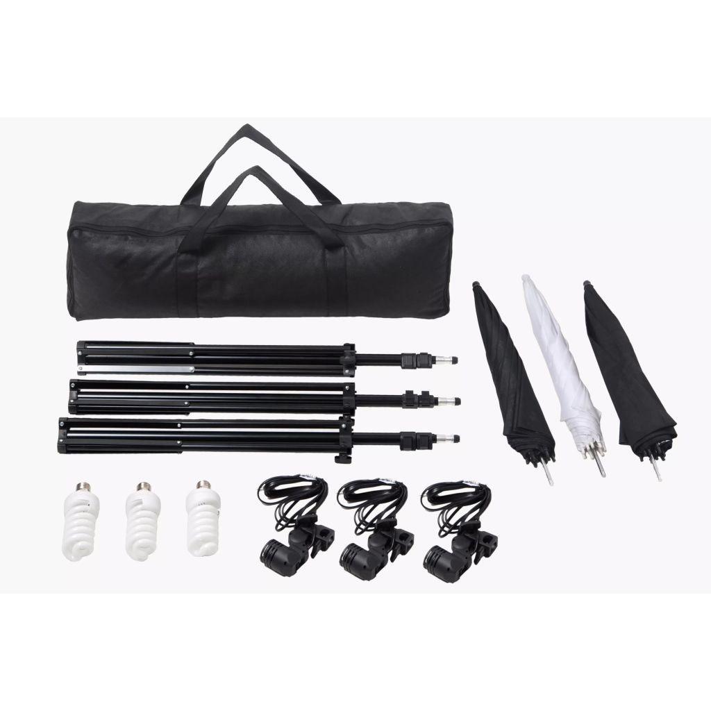 Picture of Studio Lighting Set 24 Watt Tripods And Umbrellas