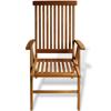 "Picture of Teak 7-Position Garden Chair 23.6""x25.2""x42.5"""
