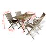 Picture of Teak Five Piece Outdoor Dining Set