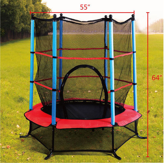 Picture of Trampoline Jumping with Safety Pad Enclosure Combo Exercise 55""