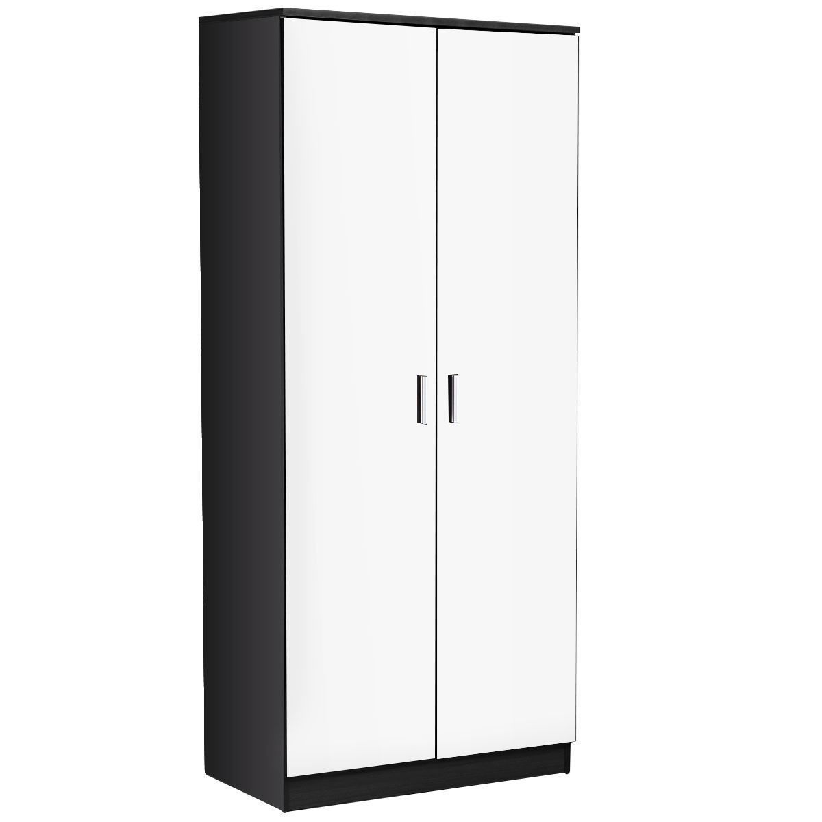 Picture of Trio Bedroom Furniture Set High Gloss 2 Door Wardrobe, Chest and Bedside 3 Piece