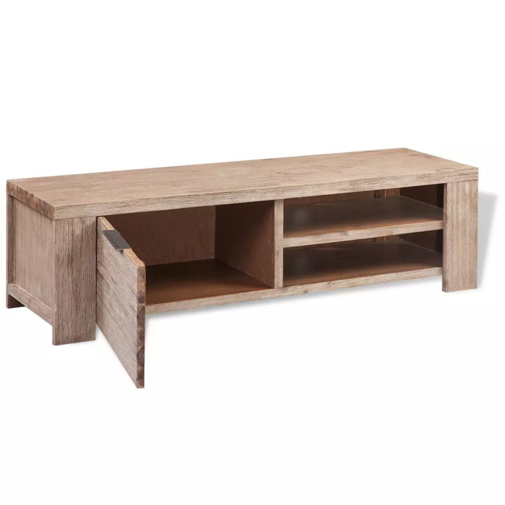 """Picture of TV Cabinet 55"""" - Solid Brushed Acacia Wood"""