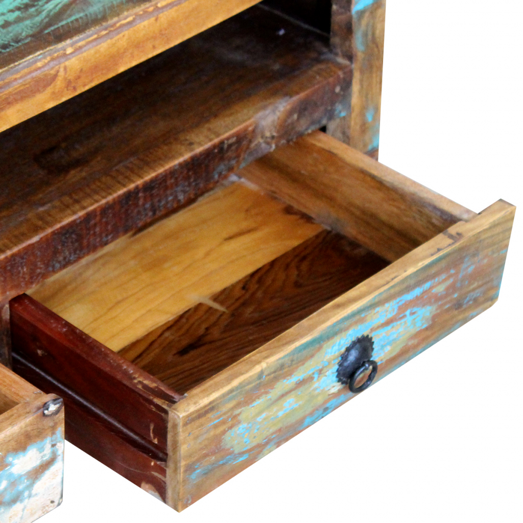 Picture of TV Cabinet with 3 Drawers - Solid Reclaimed Wood