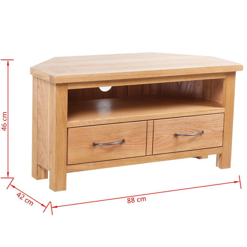 "Picture of TV Cabinet with Drawer 34"" - Oak"