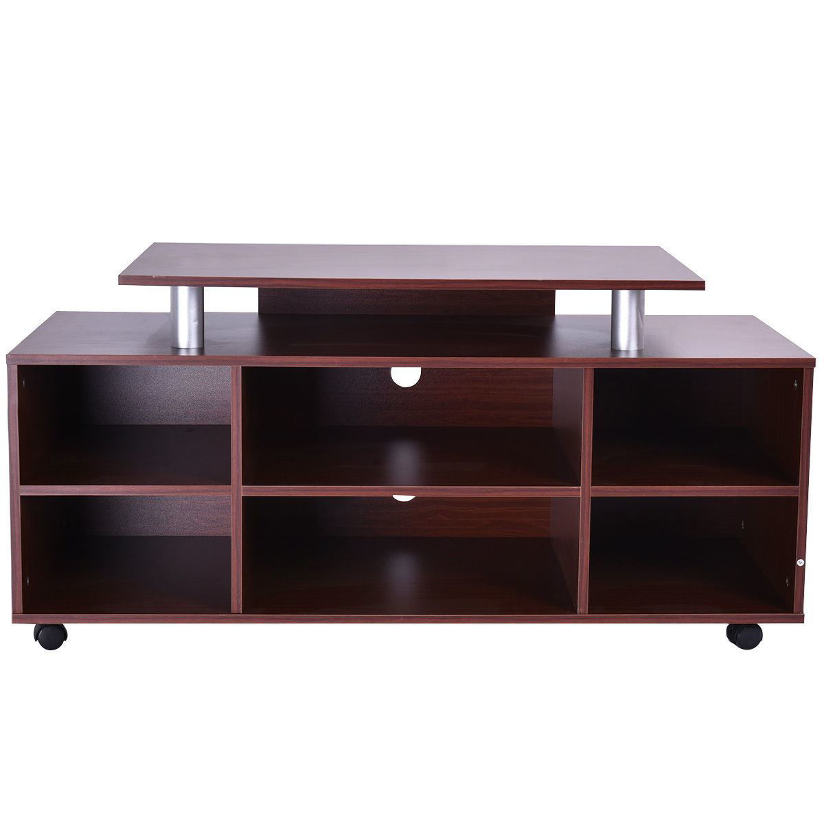 Picture of TV Stand Entertainment Center Media Storage Cabinet