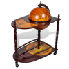 Picture of Vintage Wooden Globe Wine Rack Bar Cabinet Bottle Holder with Table Trolley