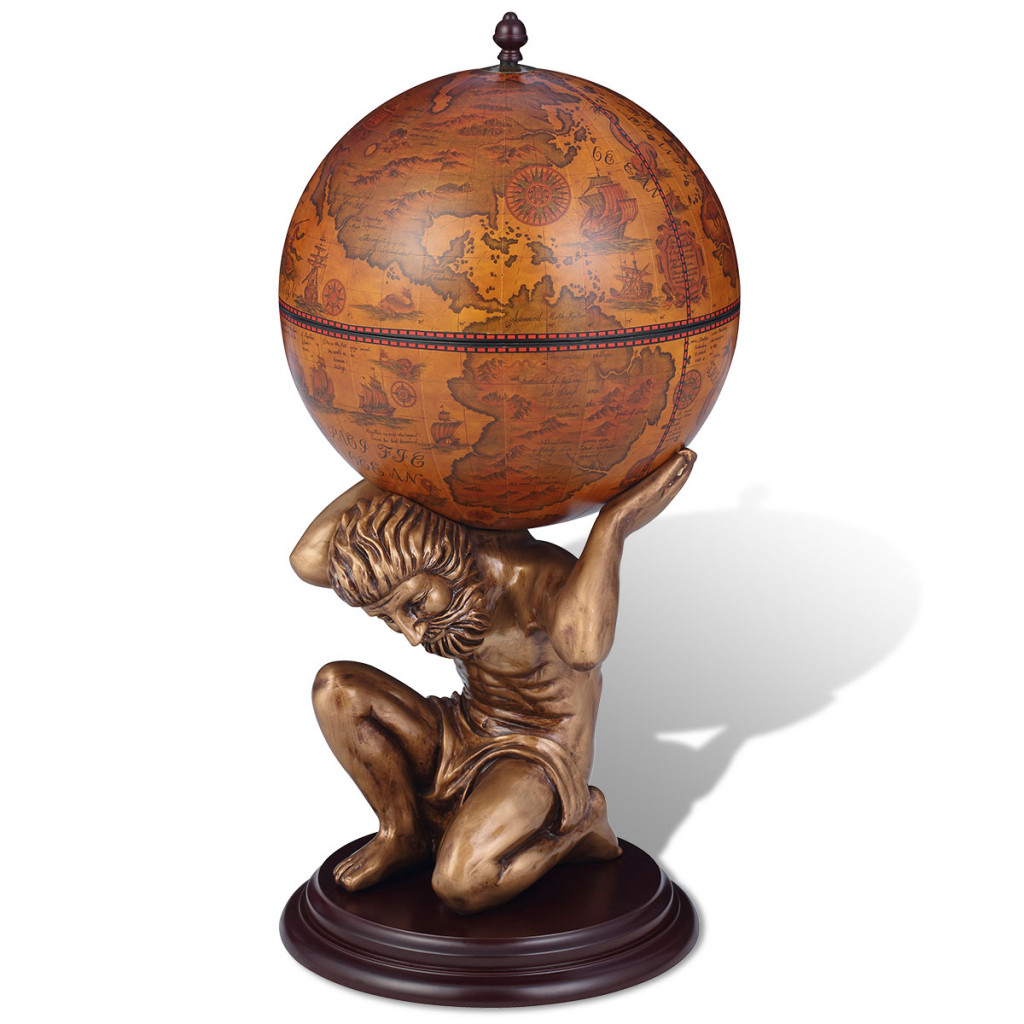 Picture of Wine Cabinet Globe Bar - Atlas
