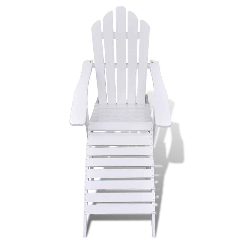 Picture of Wood Chair with Ottoman/Stool White