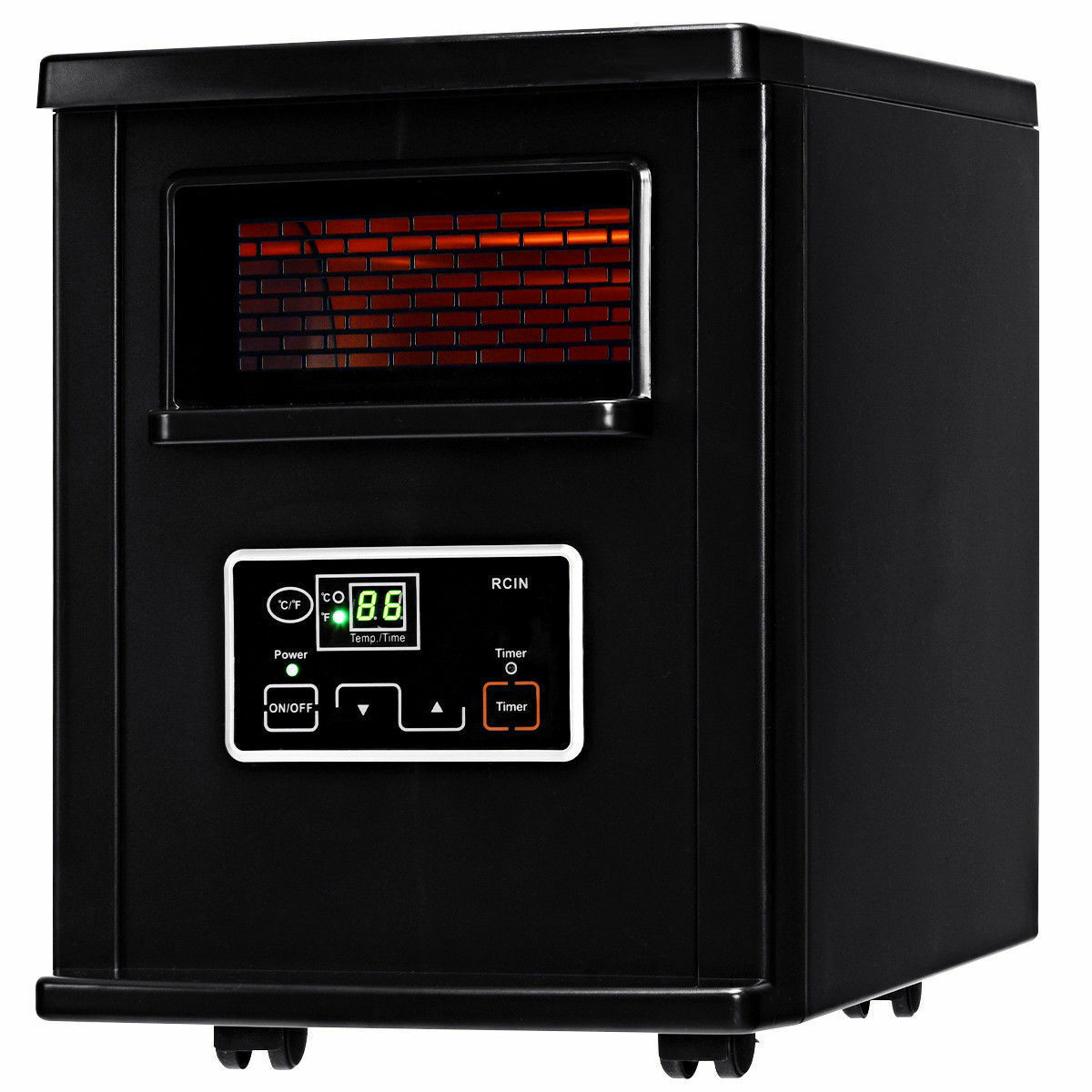 Picture of Portable Infrated Heater w/ Remote Control Black 1500W