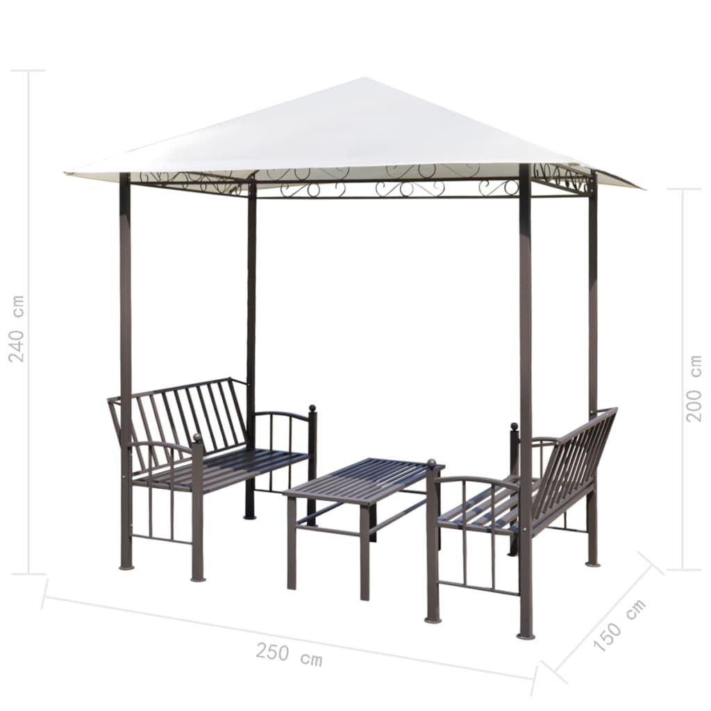 Picture of Outdoor Garden Tent with Benches and Table