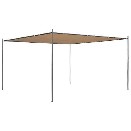 Picture of Outdoor Flat Roof Gazebo Tent - Beige