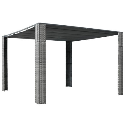 Picture of Outdoor Rattan Roof Gazebo Tent - Gray and Anthracite
