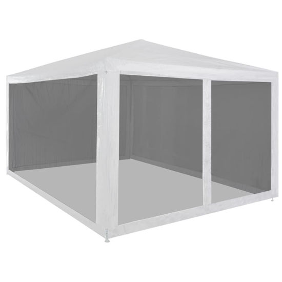 Picture of Outdoor Gazebo Tent with Mesh Walls