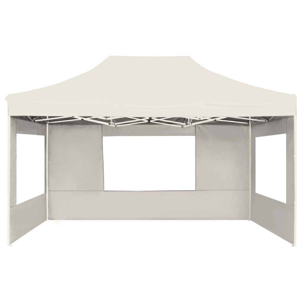 Picture of Outdoor Folding Aluminum Gazebo Tent with Walls - Cream