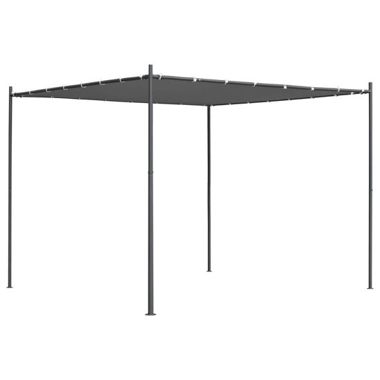 Picture of Outdoor Gazebo Tent with Flat Roof - Anthracite