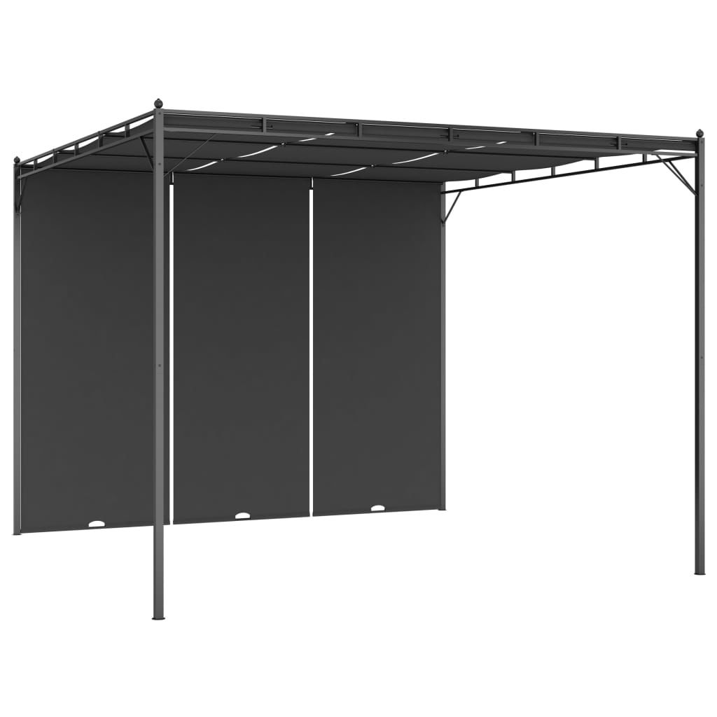Picture of Outdoor Gazebo Tent with Side Curain - Anthracite