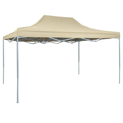 Picture of Outdoor Steel Gazebo Folding Party Tent - Cream