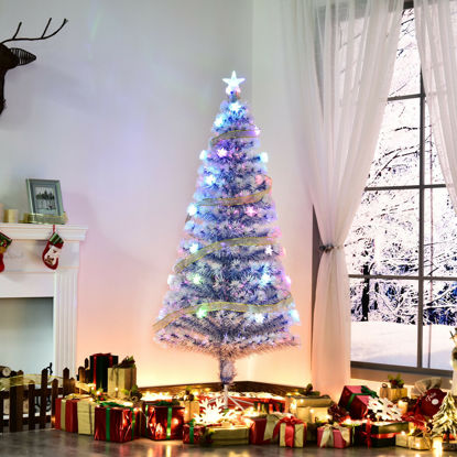 Picture of 5' Christmas Tree with Lights - White