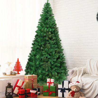 Picture of 8' Artificial Christmas Tree with Stand