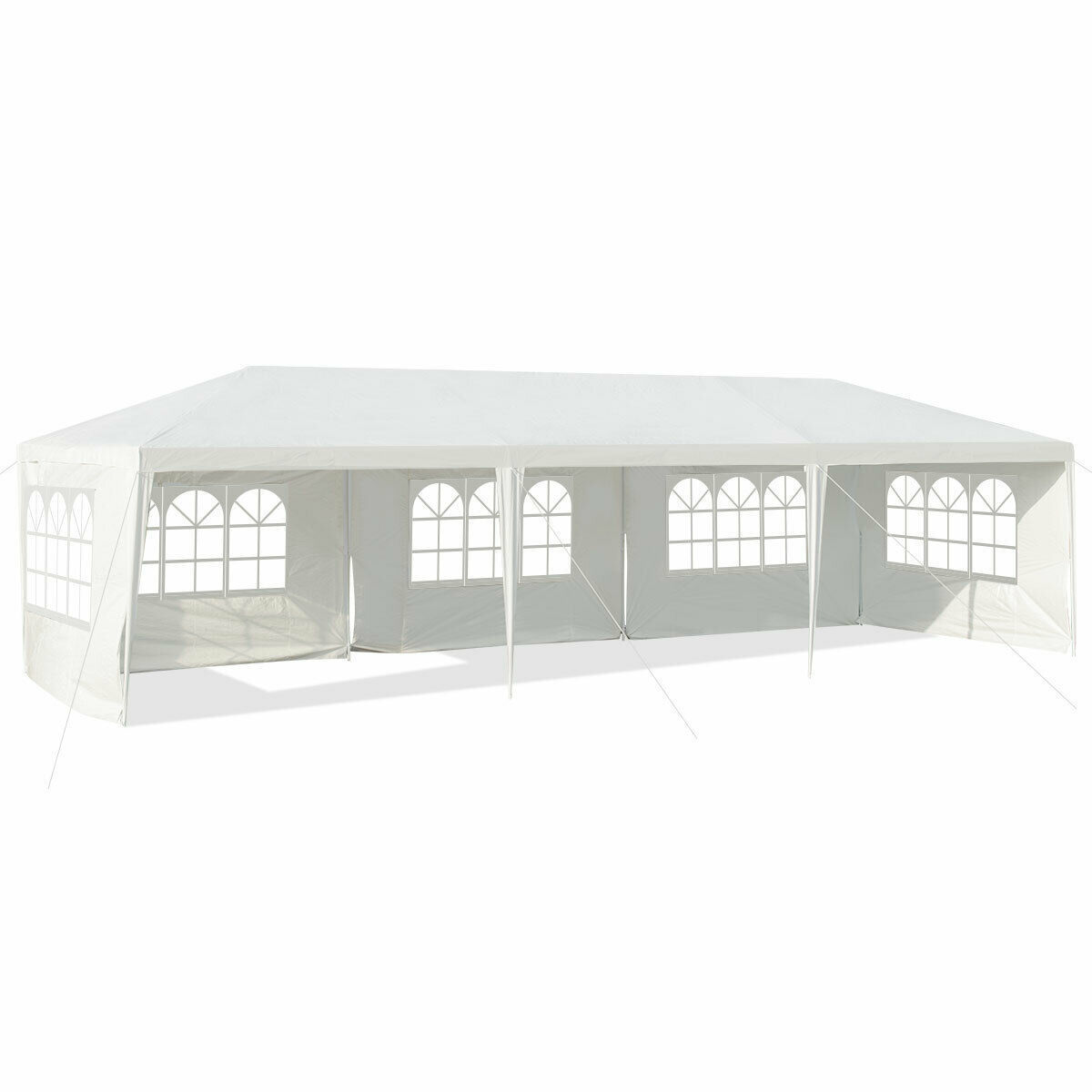 Picture of Outdoor 10' x 30' Tent with 5 Walls - White