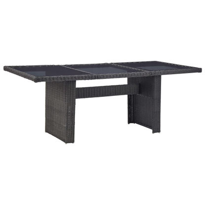 Picture of Garden Dining Table - Black 78""