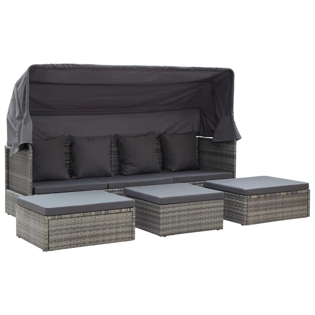 """Picture of Outdoor Lounge Bed 78"""" - Gray"""