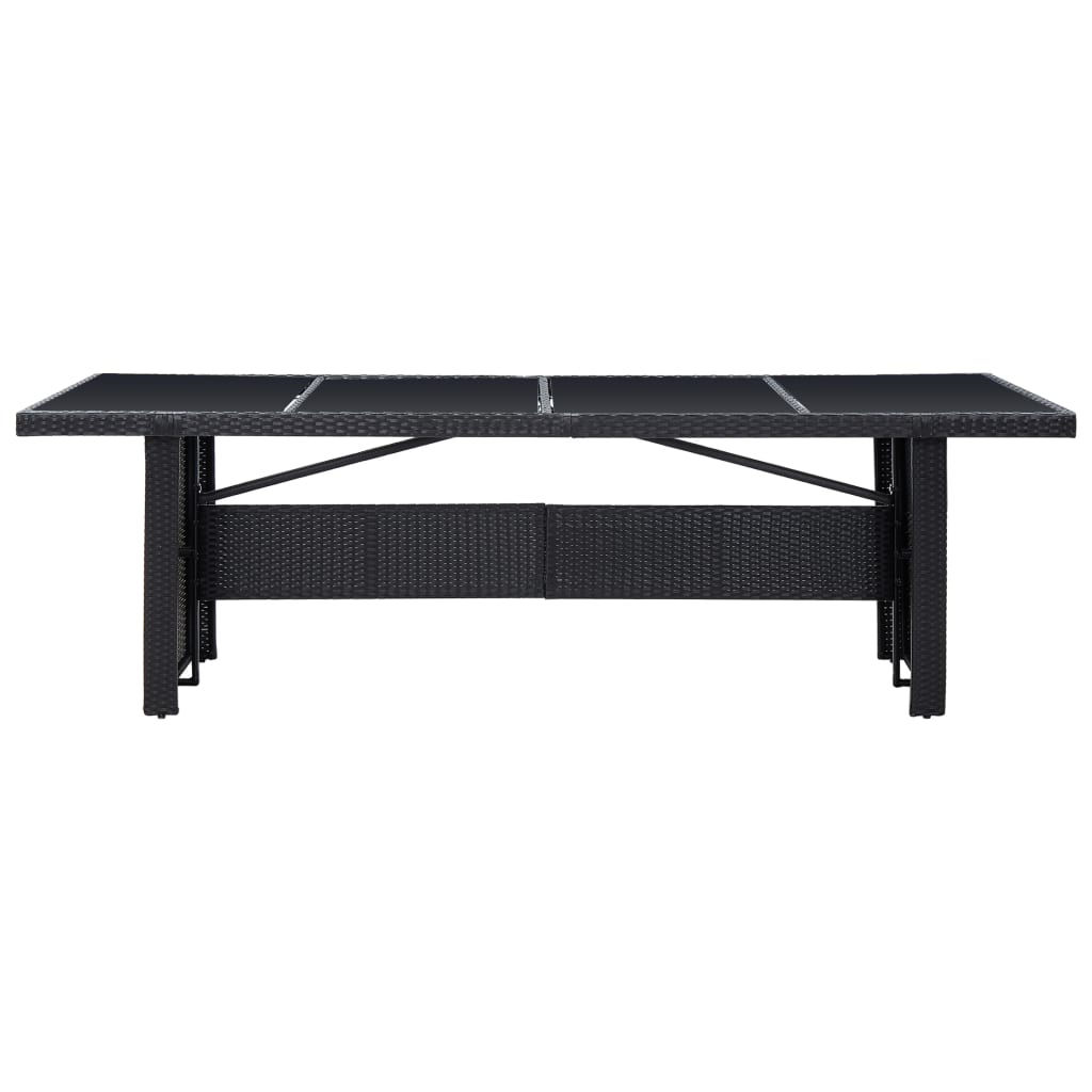 """Picture of Outdoor Dining Table 94"""" - Black"""
