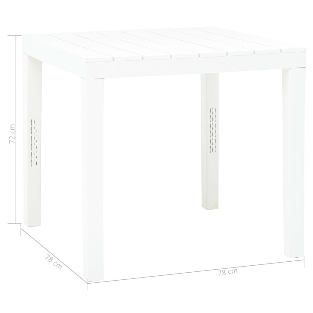 """Picture of Outdoor White Plastic Table 30"""""""