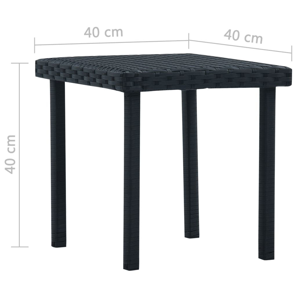 "Picture of Patio Tea Table 15"" - Black"