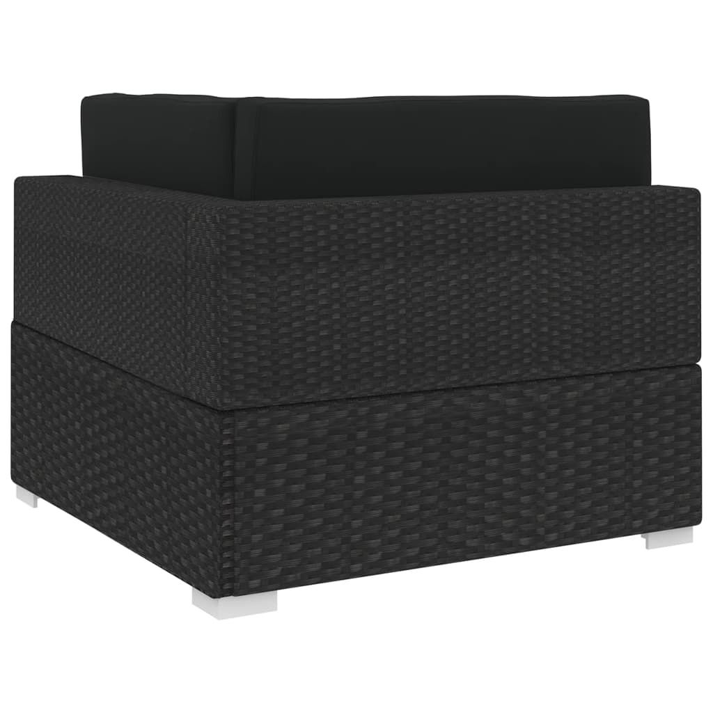 Picture of Patio Sectional Corner Chair - Black