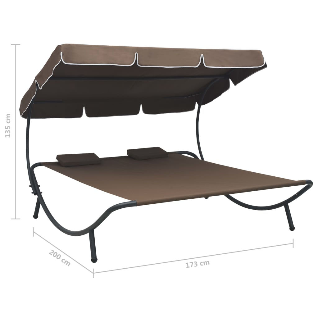 Picture of Outdoor SunBed - Brown