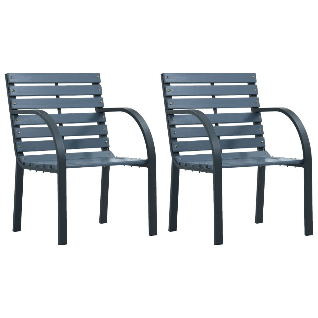 Picture of Outdoor Chairs - Gray 2 pcs