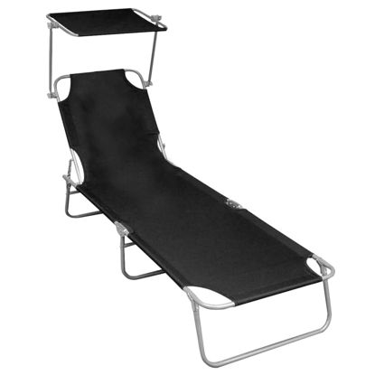 Picture of Outdoor Folding Lounger - Black