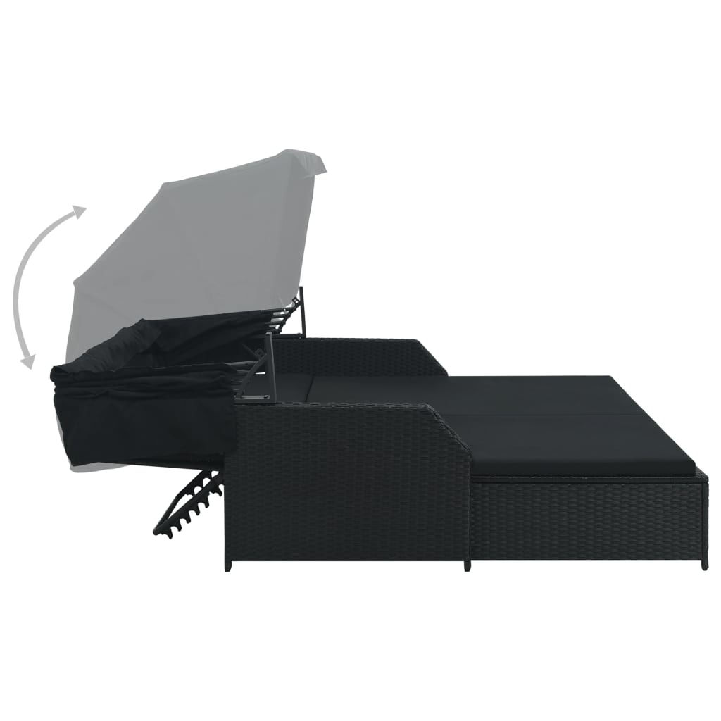 Picture of Outdoor Lounger with Canopy - Gray
